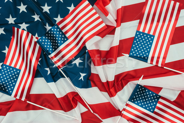 close up view of arranged american flags, presidents day concept Stock photo © LightFieldStudios