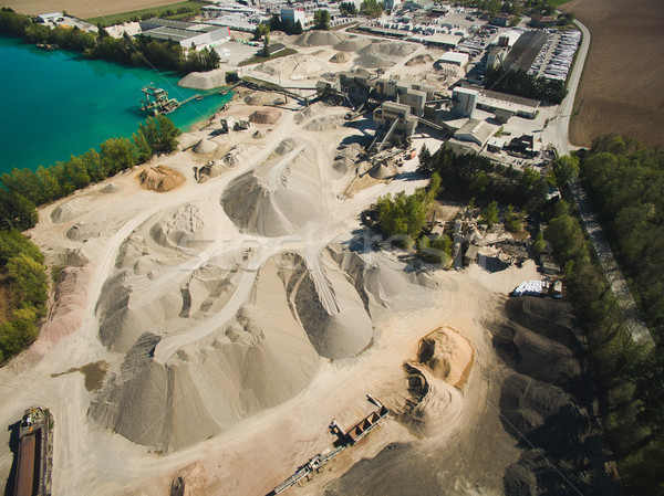 Aerial view of sand quarry or construction, Germany Stock photo © LightFieldStudios