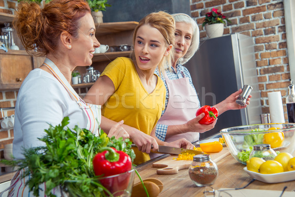 Family cooking together in kitchen  Stock photo © LightFieldStudios