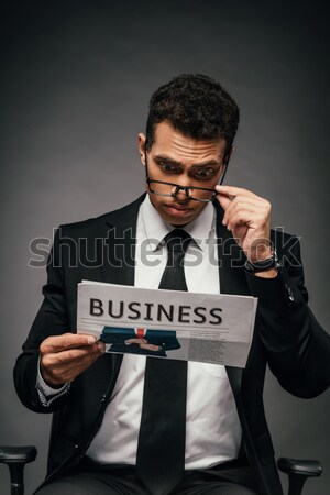 Senior businessman in eyeglasses Stock photo © LightFieldStudios