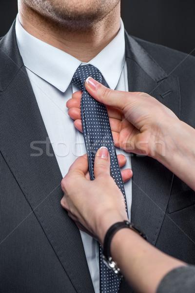 女性 首 ネクタイ クローズアップ 表示 男 ストックフォト © LightFieldStudios