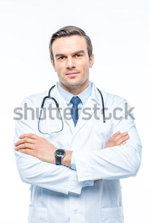 Male doctor with stethoscope Stock photo © LightFieldStudios