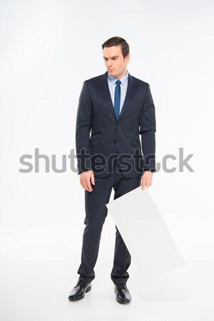 Young roped businessman Stock photo © LightFieldStudios