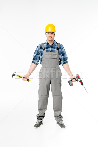 Professional construction worker Stock photo © LightFieldStudios