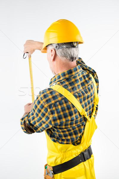 Mature workman in hard hat  Stock photo © LightFieldStudios