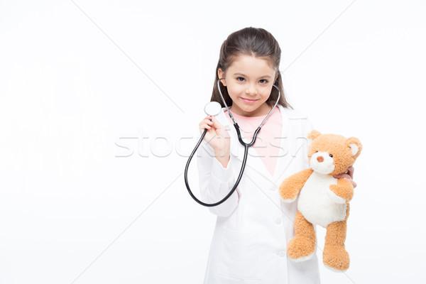 ストックフォト: 少女 · 医師 · 衣装 · 笑みを浮かべて · 女の子 · 医療