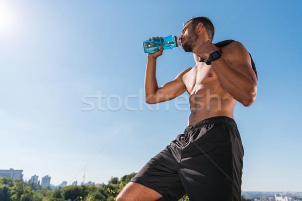 sportsman drinking water Stock photo © LightFieldStudios