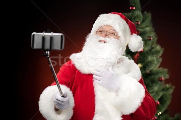 Kerstman gelukkig vakantie horizontaal vrolijk Stockfoto © LightFieldStudios