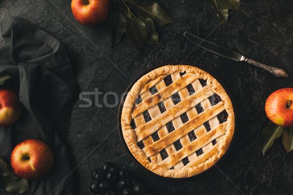 homemade apple pie Stock photo © LightFieldStudios