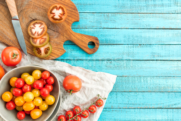 Stock photo: various fresh tomatoes