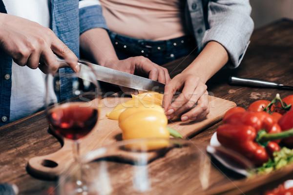 Paar diner samen shot groenten Stockfoto © LightFieldStudios