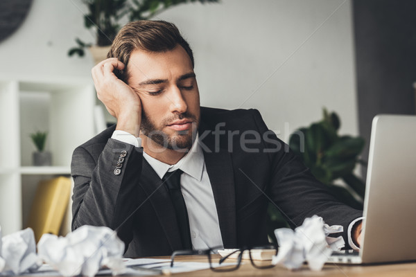 sleeping overworked businessman Stock photo © LightFieldStudios