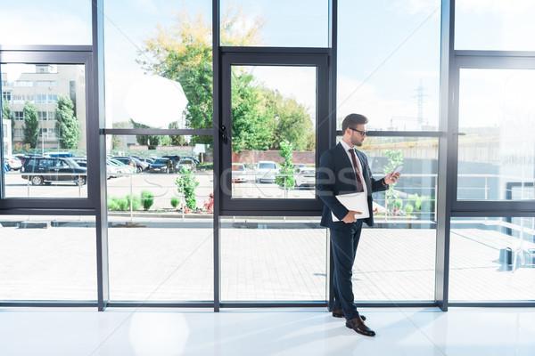 Zakenman laptop kantoor Stockfoto © LightFieldStudios
