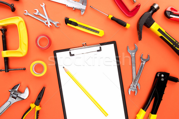 Clipboard and reparement tools Stock photo © LightFieldStudios