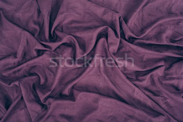 Lila vászon textúra közelkép kilátás szövet Stock fotó © LightFieldStudios