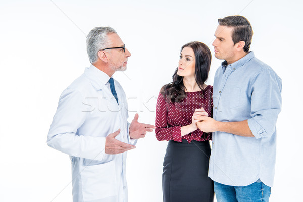 Young couple and doctor Stock photo © LightFieldStudios