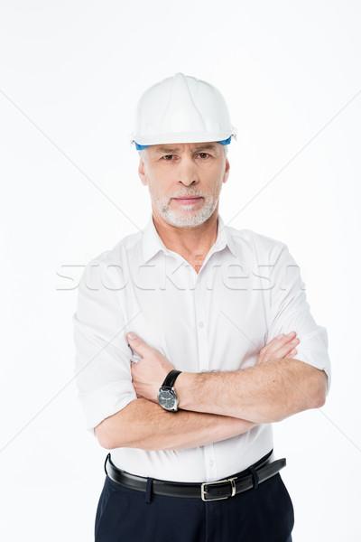 Volwassen mannelijke architect werk Stockfoto © LightFieldStudios