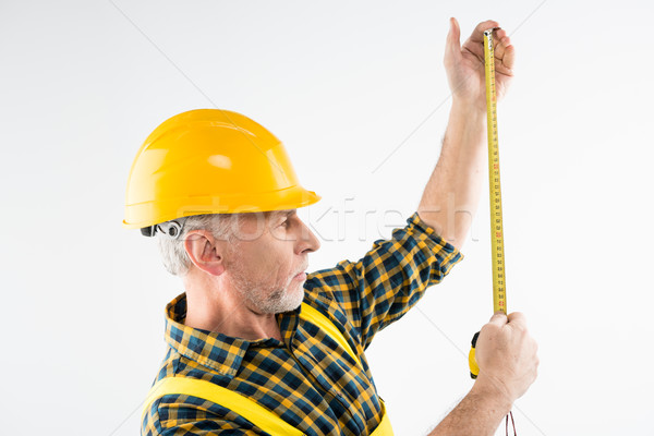 Mature workman in hard hat  Stock photo © LightFieldStudios