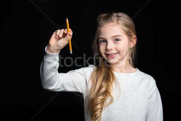 Cute blonde girl Stock photo © LightFieldStudios