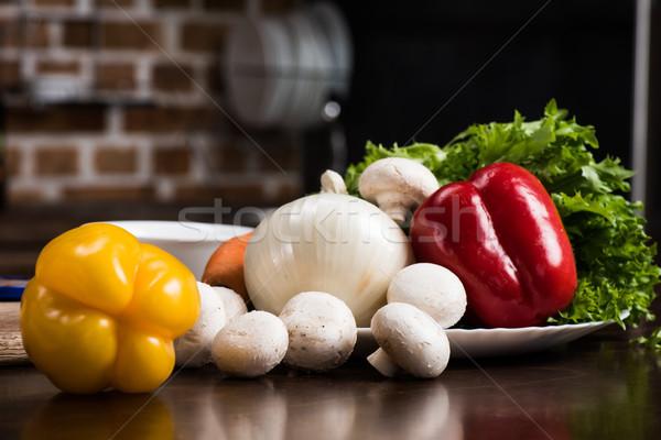 Ingrédients cuisson dîner vue Photo stock © LightFieldStudios