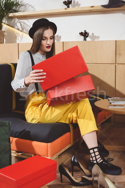 girl choosing footwear  Stock photo © LightFieldStudios