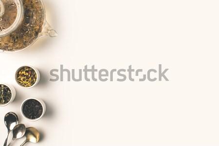 Foto d'archivio: Tisana · cookies · top · view · fresche