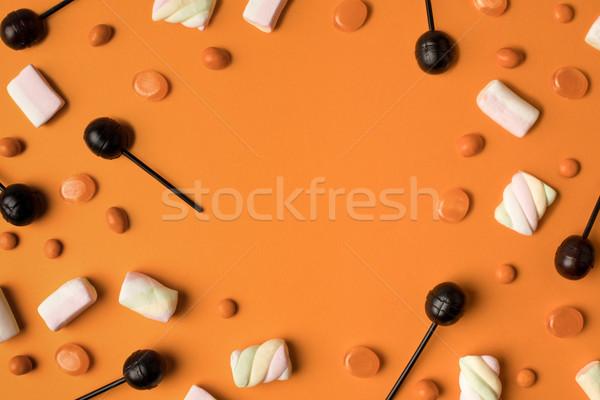 ストックフォト: ハロウィン · 先頭 · 表示 · 甘い · オレンジ