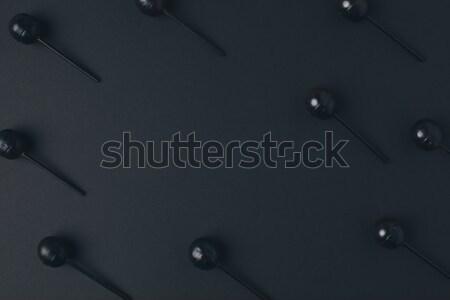 Noir halloween haut vue sweet amusement Photo stock © LightFieldStudios