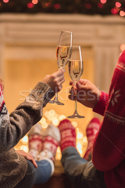 couple drinking champagne Stock photo © LightFieldStudios