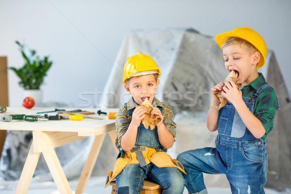 Boys eating sandwiches    Stock photo © LightFieldStudios
