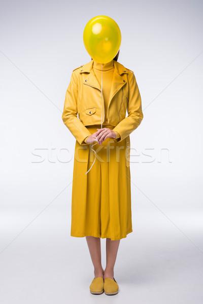 stylish girl in yellow clothes Stock photo © LightFieldStudios