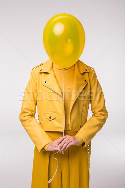 fashionable girl with balloon Stock photo © LightFieldStudios