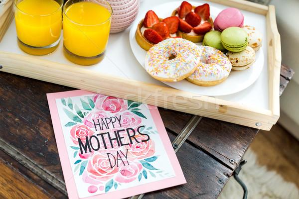 Feliz dia das mães cartão ver doce Foto stock © LightFieldStudios
