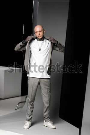 Stock photo: Businesswoman with hands in pockets