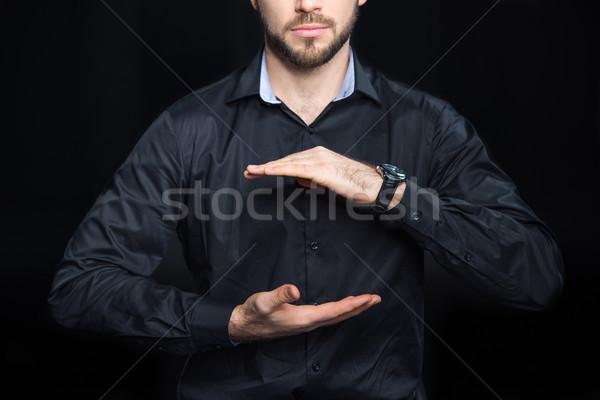 Man holding copy space Stock photo © LightFieldStudios