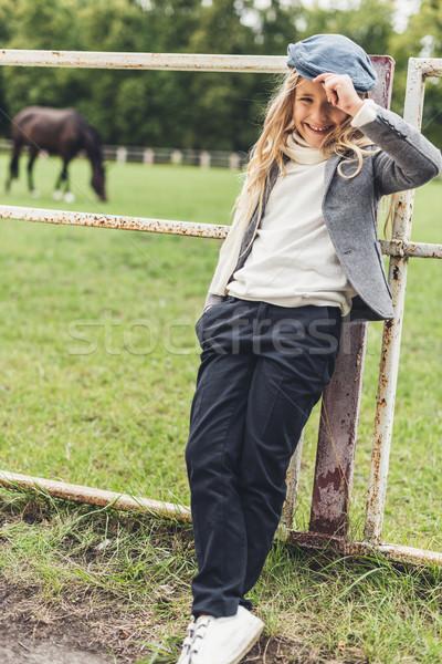 cheerful blonde kid  Stock photo © LightFieldStudios