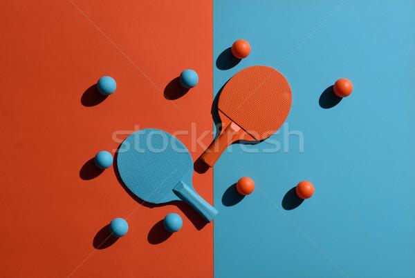 Ping pong wyposażenie górę widoku shot Zdjęcia stock © LightFieldStudios