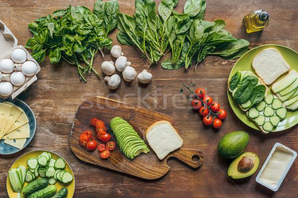 Stok fotoğraf: Sağlıklı · kahvaltı · malzemeler · sebze · mantar