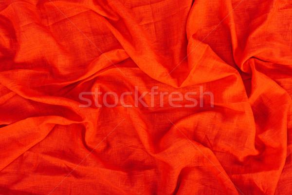 Piros vászon textúra közelkép kilátás szövet Stock fotó © LightFieldStudios