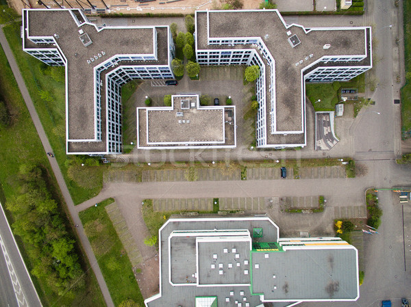 top view of buildings and road in urban city, Germany Stock photo © LightFieldStudios