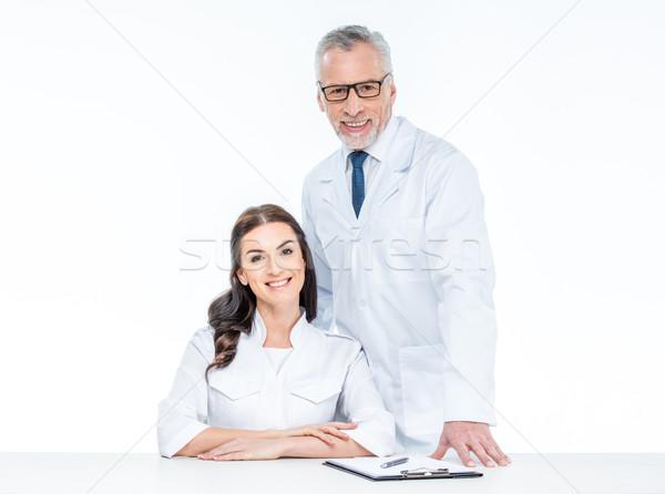 Two smiling doctors Stock photo © LightFieldStudios