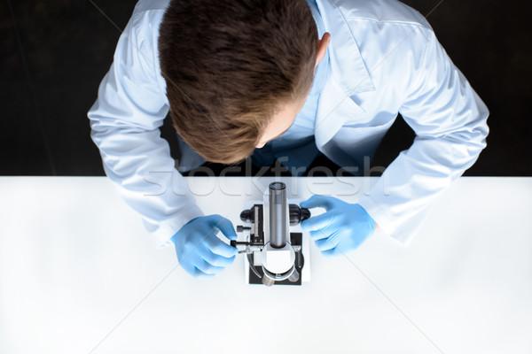 Top wetenschapper werken microscoop laboratorium Stockfoto © LightFieldStudios