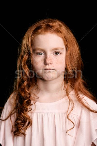 Ritratto adorabile sconvolto ragazza guardando Foto d'archivio © LightFieldStudios