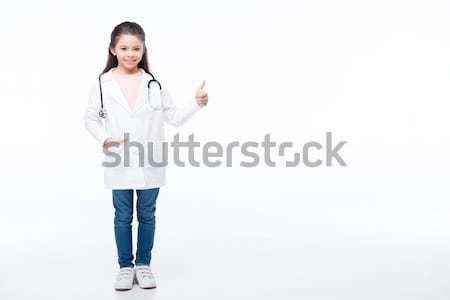 ストックフォト: 少女 · 医師 · 衣装 · 肖像 · 美しい