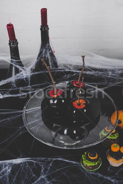 Halloween apple dessert Stock photo © LightFieldStudios