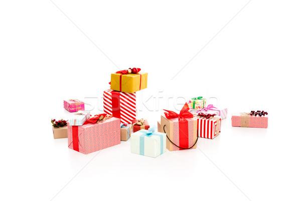 wrapped christmas gifts Stock photo © LightFieldStudios