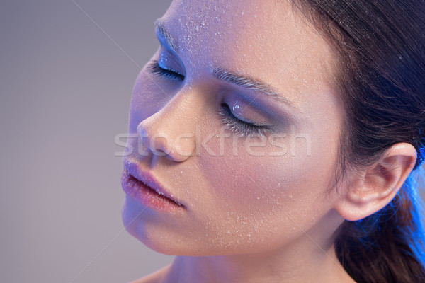 Donna coperto gelo ritratto posa Foto d'archivio © LightFieldStudios