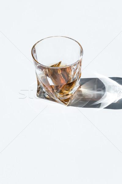 Whiskey glas schaduw exemplaar ruimte Stockfoto © LightFieldStudios