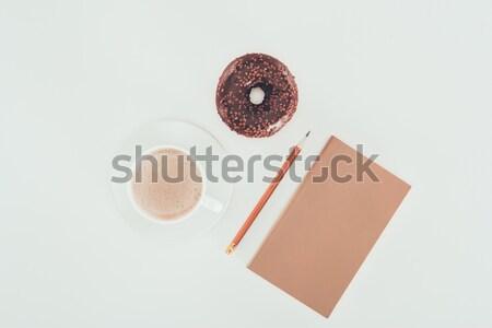 brown egg laying on white background  Stock photo © LightFieldStudios