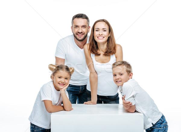 Happy family with two children Stock photo © LightFieldStudios